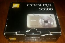 Nikon COOLPIX S3100 14.0 MP Digital Camera - Silver - SOLD AS PICTURED AS IS