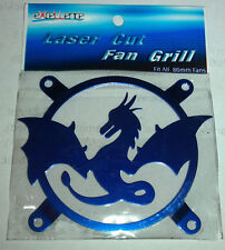 COMPUTER CASE FAN GRILL DRAGON BLUE 80MM