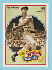 1991 Upper Deck Baseball Heroes Ted Williams Boston Red Sox #30