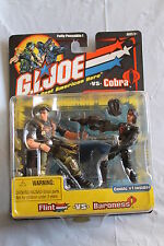 G.I. Joe vs. Cobra FLINT vs. BARONESS with SOUND ATTACK WEAPONS 2-Pack