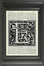 ORIGINAL - Letter E Alphabet Vintage Dictionary Art Print - PERSONALISED NO.526D