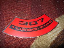 CHEVROLET 307 TURBO-FIRE TURBOFIRE AIR CLEANER TOP LID DECAL STICKER NEW RED/CHR