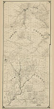 1878 Farm Line Map Part of Elk County and McKean County Pa 20 by 40 in color