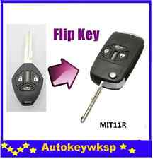 3 BTN For MITSUBISHI Lancer Eclipse Galant 07-13 Uncut Blade flip key case shell