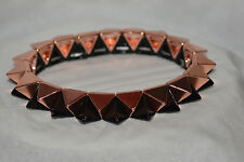 Pyramid Stud Stretch Fashion Jewelry Bracelet Rose Gold