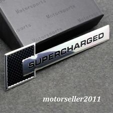 Aluminium Carbon Fiber Patten SUPERCHARGED Gloss Badge Sticker Emblem