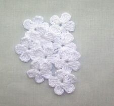 15 Crochet White Flowers Appliques,Scrapbooking,Accessories,Supplies,Women,CRAFT