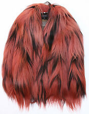 $8000 FAMOUS GUCCI DIAMOND LONG HAIR GOAT FUR COAT JACKET HANDWOVEN IT 42 US 6/8