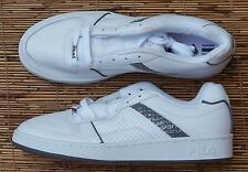 "FILA SPORT ""NEWPORT LEA/SYN"" MENS WHITE LEATHER FLAT SOLE ATHLETIC SHOE LIS"