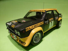 KYOSHO FIAT 131 ABARTH MIRAFIORI - BLUE YELLOW 1:18 - RARE SELTEN - EXCELLENT