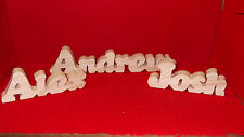 Handcrafted Personalized Wood Names- $3.00 per name