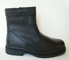 FLORSHEIM MEN'S WINTER SNOW BOOTS HALIFAX BLACK LEATHER ANKLE BOOTS SIZE 9 NEW