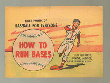 How to Run Bases NM 1957 Finer Points Baseball Everyone Babe Ruth Comic Book N