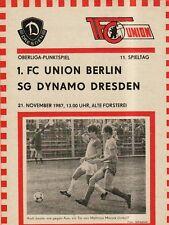 OL 87/88  1. FC Union Berlin - SG Dynamo Dresden