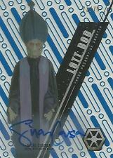"Star Wars High Tek: Blue SW-23 Silas Carson ""Lott Dod"" Autograph Card #23/75"