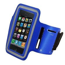BLUE Armband Case for Jogging Running Apple iPhone 5 5S Holder Cover with Strap