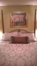 Martex Atelier-King-Duvet Cover, King Pillow Shams & Bed skirt Italian Damask