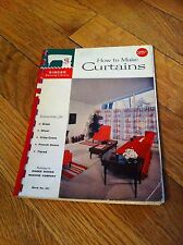 Vintage 1960 Singer Sewing Library How To Make Curtains Book #101 Instructions