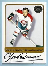 YVAN COURNOYER 2001 FLEER GREATS OF THE GAME SIGNATURE AUTOGRAPH AUTO CANADIENS