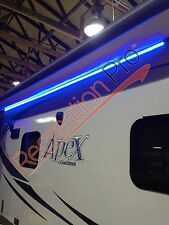 NEW RV 20' BLUE LED AWNING PARTY LIGHT w/ MOUNTING CHANNEL WHITE PCB BACKGROUND