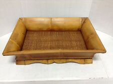 Wood Bamboo Ratten Serving Table Tray Candle Centerpiece Holder Basket