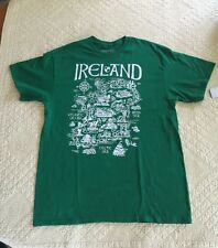 Fifth Sun Map Quest Ireland Mens Green Graphic Tee Size Large