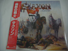 SAXON-Crusader JAPAN 1st.Press w/OBI NWOBHM Iron Maiden Motorhead AC/DC Sweet