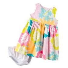 Carter's 2 Piece Pleated Sateen Dress With Diaper Cover ~ Size Newborn