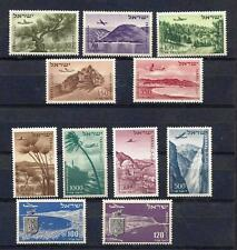 ISRAEL STAMPS 1952-1956 AIR MAIL 11 V MNH WITHOUT TABS