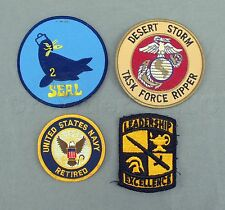 United States US Retired Navy Military Seals Desert Storm Patches - Lot of 4