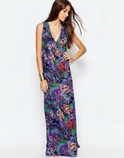 Mela Loves London Floral Open Back Maxi Dress UK12/EU40/US8  z8