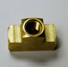 "Brass Fittings: Brass Tee Extruded Female Pipe Size 1/4"" - 18  Kent 5326"