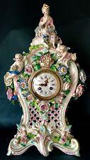 Antique French Vion&Baury Porcelain Mantel Clock