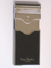 Pierre Cardin Paris Black Lacquer Chrome Single Jet Flame Lighter Luxury boxed