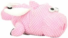 goDog Checkers Flying Pig Chew Guard Technology Tough Plush Dog Toy Pink Large
