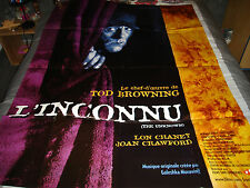 AFFICHE   LON CHANEY / BROWNING / L'INCONNU, ressortie