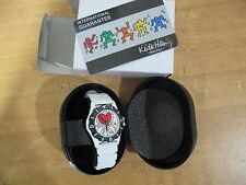 Collectible KEITH HARING white/black/Red Love Heart Watch New w Tag MMI 90s