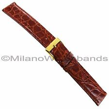 18mm Morellato Genuine Select Crocodile Tan Italy Made Stitched Watch Band 855