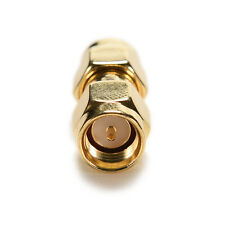 1X Gold Plating Adapter SMA Male to SMA Male Plug RF Connector Straight