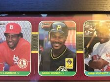 1987 Donruss Opening Day Card Strip w/ Barry Bonds Error Cards & Corrected Card
