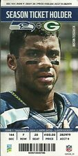 WEEK 1 2014 PACKERS VS Seahawks Ticket Stub CENTURY LINK RODGERS RUSSELL WILSON