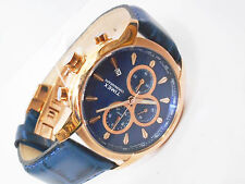 TIMEX Multi Dials Blue Strap Copper Plated Chrono Watch for Mens TW000Y519