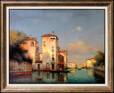 Antoine Bouvard Original OIL PAINTING on CANVAS Signed Venice Architecture Art