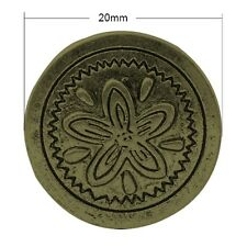 5 Tibetan Style Antique Bronze Metal Shank Button with flower design - 20x7mm