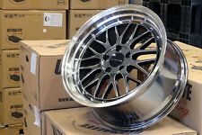 "ULTRALITE LM 18"" 5x112 VAG BLACK CHROME LIP SPOKE STYLE ALLOY WHEELS Z2312/4"