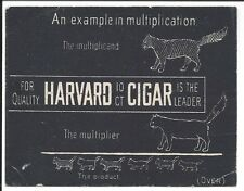 Unusual Trade Card (On Black Background) for Harvard 10 cent Cigar, c1900