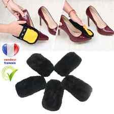 gant de cirage polissage fourrure pour chaussure, botte, bottine,sac etc.. noir