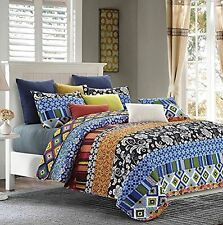 "Virah Bella® Collection - ""Stripe"" Printed Quilt Set - Queen Size"