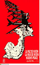 Political OSPAAAL POSTER.NIXON's Cold War Cambodia.Revolution Art History.as18