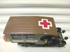 Matchbox Models of Yesteryear Y25 1910 Renault Van British Red Cross BROWN Roof